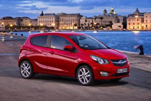 Fotos Opel Metallisch Rot Seitlich 2015 Karl