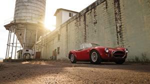 Hintergrundbilder Shelby Super Cars Rot Cabriolet Roadster 1966 Cobra 427 Roadster MkIII AC