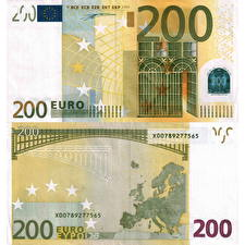Fotos Geld Banknoten Euro 200