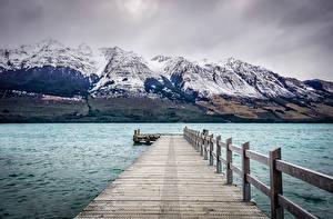 Images New Zealand Marinas Mountain Lake Glenorchi Nature