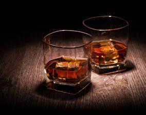 Fotos Getränke Großansicht Trinkglas Zwei Lebensmittel
