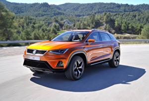 Bilder Seat Orange Metallisch 2015 20V20 automobil