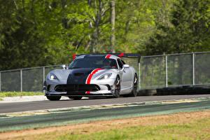 Wallpaper Dodge Tuning Silver color 2016 Viper American Club Racer automobile