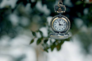 Image Vintage Closeup Clock Pocket watch