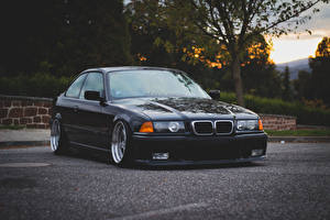 Photo BMW Front Black Asphalt 3 series M3 E36 Cars