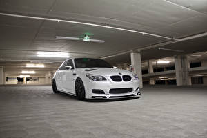 Picture BMW Front White Parked m5 e60 Cars