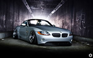 Pictures BMW BMW Z4 Front Silver color Cars