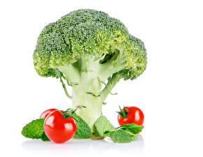 Papel de Parede Desktop Hortaliça Repolho Tomates Brócolos