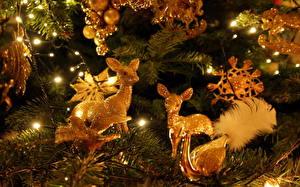 Wallpapers Christmas animals