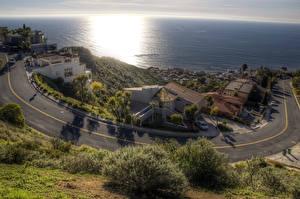 Fotos USA Haus Küste Wege Meer HDR Laguna Beach Städte