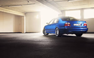 Pictures BMW Back view Blue Parking E39 M5 Lemans blue automobile
