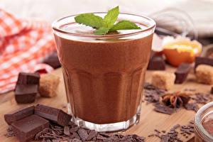 Bilder Schokolade Getränke Großansicht Trinkglas Lebensmittel