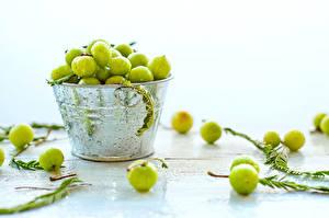 Fotos Großansicht Stachelbeere Grün Lebensmittel