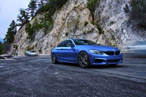 Photo BMW Blue Asphalt F82 M4 Coupe Cars