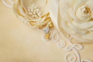 Fotos Großansicht Schmuck Brillant Heirat Ring