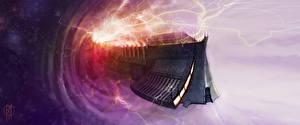 Bureaubladachtergronden Warhammer 40000 Schepen space ship portal warp computerspel Fantasy Ruimte