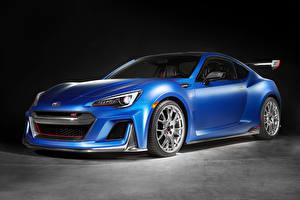 Hintergrundbilder Subaru Seitlich Blau 2015 BRZ STI Performance Concept Autos
