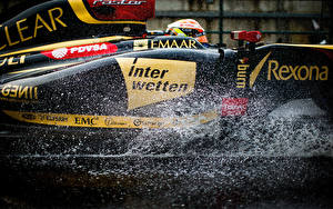 Fondos de escritorio Lotus Tuneo Formula 1 Salpicaduras Lateralmente Pastor Maldonado Coches