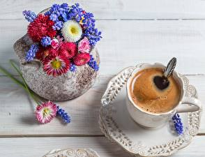 Images Coffee Closeup Drinks Cup Saucer Vase Food Flowers