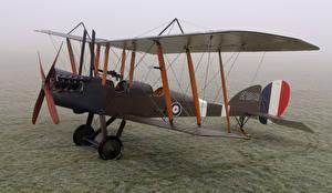 Fotos Flugzeuge Antik Nebel Biplane