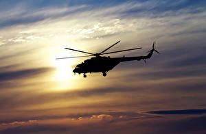 Fotos Hubschrauber Himmel Flug Mil Mi-8 Luftfahrt