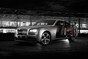 Bilder Rolls-Royce Grau Luxus 2015 Wraith Inspired by Film Autos