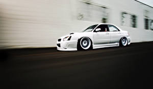 Bilder Subaru Seitlich Weiß impreza wrx sti auto