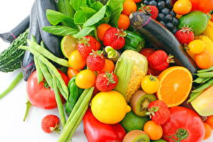 Image Vegetables Strawberry Tomatoes Corn Kiwi Food