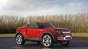 Papel de Parede Desktop Land Rover Lateralmente Vermelho Conversivel Sport carro