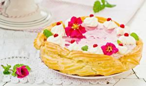 Hintergrundbilder Torte Backware Großansicht Rosen Süßigkeiten Lebensmittel Blumen