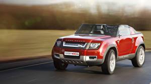 Papel de Parede Desktop Land Rover Na frente Vermelho Sport automóveis