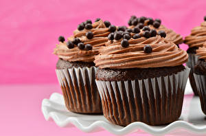 Fotos Törtchen Großansicht Süßigkeiten Schokolade Cupcake das Essen
