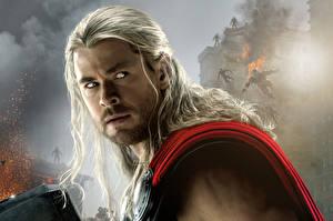 Fotos Thor Held Mann Avengers: Age of Ultron Chris Hemsworth Haar Blick Thor Film Prominente