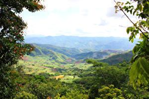 Fotos Indonesien Landschaftsfotografie Gebirge Grünland Ast Sumatra Natur