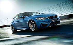Image BMW Blue Headlights 2015 M3 F80 automobile