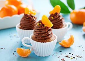 Hintergrundbilder Törtchen Süßigkeiten Mandarine Schokolade Großansicht Tasse Lebensmittel