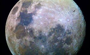 Hintergrundbilder Hautnah Mond Kosmos