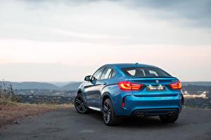 Pictures Sky BMW Back view Light Blue 2015 X6 M ZA-spec F16 Cars