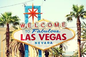 Bilder Vereinigte Staaten Logo Emblem Retro Palmengewächse Las Vegas Nevada vintage