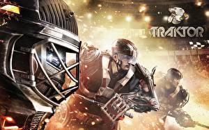 Фотография Хоккей Мужчины В шлеме traktor 2014/15