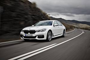 Fonds d'écran BMW Routes Blanc BMW 7 G11 / G12 Voitures