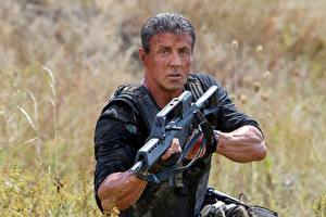 Images The Expendables 2010 Sylvester Stallone Men Assault rifle The Expendables 3, Barney Ross, Sylvester Stallone Celebrities