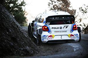 Bureaubladachtergronden Volkswagen Tuning Achteraanzicht Rally Polo WRC Auto