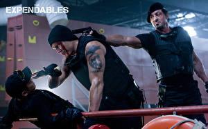 Papel de Parede Desktop Sylvester Stallone Os Mercenários Jet Li Pistola Homem Três 3 Tatuagem Dolph Lundgren Filme Celebridade