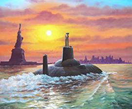 Pictures Submarines Painting Art Project 941