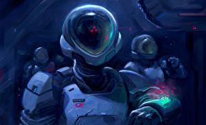 Image Cosmonaut Helmet Fantasy