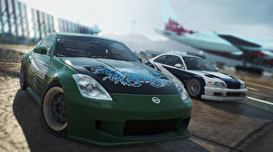 Bureaubladachtergronden Nissan BMW Need for Speed Most Wanted 2012 350Z M3 GTR 2005 videogames Auto 3D_graphics