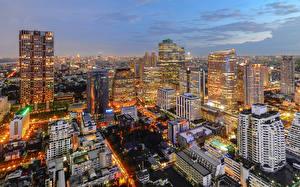 Sfondi desktop Thailandia Grattacielo Cielo La casa Bangkok Città