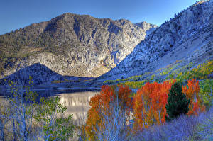 Fotos USA Gebirge Herbst Kalifornien HDRI Eastern Sierra Natur