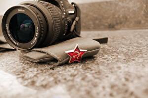 Fotos Tag des Verteidigers des Vaterlandes Großansicht Objektiv Fotoapparat